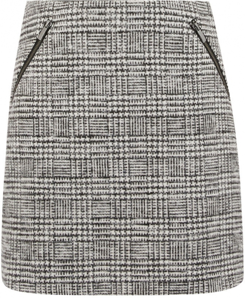 Oasis BLACK AND WHITE CHECK Skirt