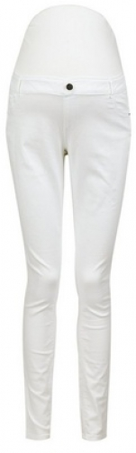 Dorothy Perkins Maternity White Overbump 'Darcy' Skinny Ankle Grazer Jeans