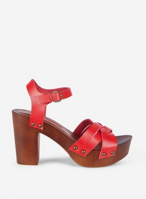 Dorothy Perkins Red 'Sequoia' 70S Clog Sandals