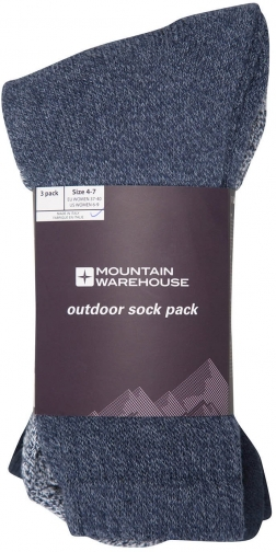 Mountain Warehouse Outdoor - 3 Pack - Navy Sock