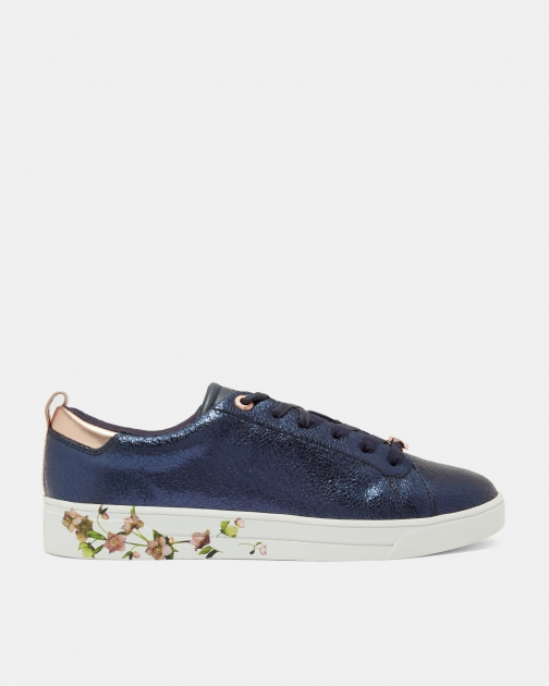 Ted Baker Crackle Leather Trainer