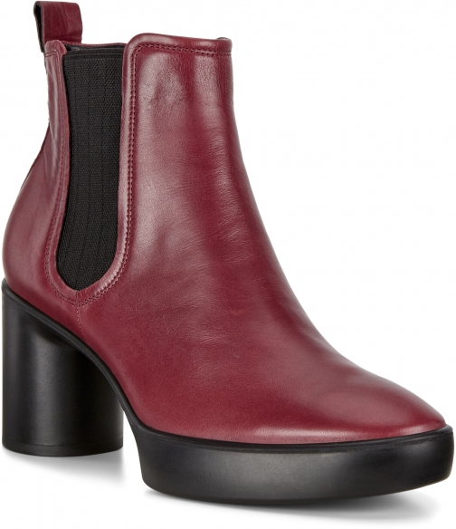 Ecco Shape Sculpted Motion 55 Womens Chelsea Size 4 Syrah Ankle Boot