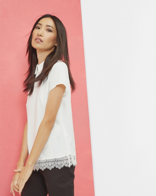 Ted Baker Lace Collared Top Shirt