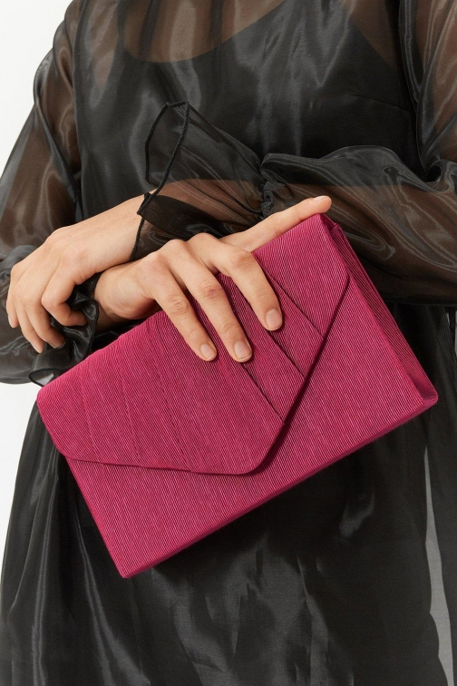 Coast Pleated Bag Red, Red Clutch