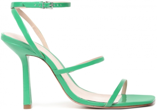 Schutz Shoes Nita Sandal - 6 Bright Green Patent Leather Sandals