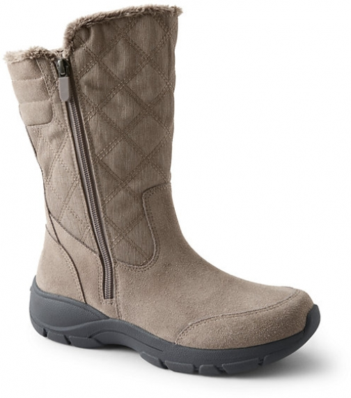Lands' End Women's All Weather Winter - Lands' End - Brown - 6 Snow Boot