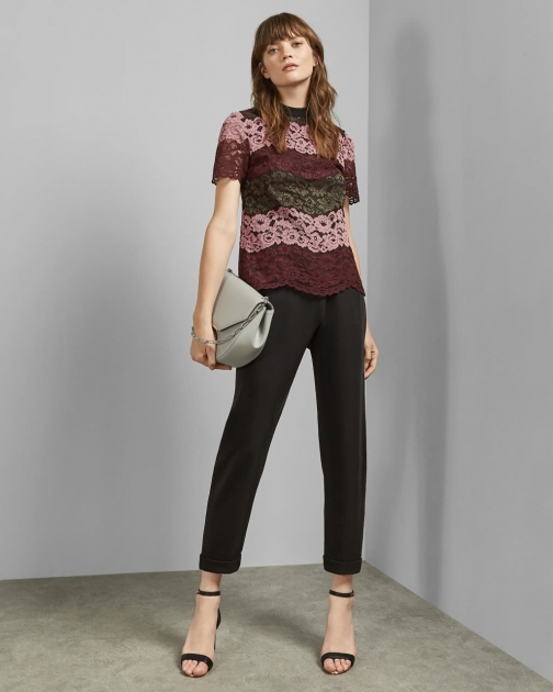Ted Baker Lace Short Sleeved Top T-Shirt