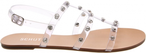 Schutz Shoes Cacilda Flat Sandal - 6 Clear Vinyl Sandals