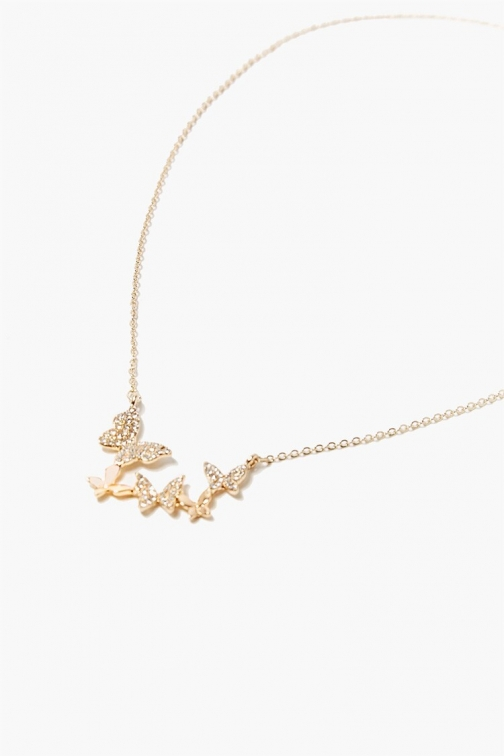Forever21 Butterfly Charm At Forever 21 , Gold Necklace