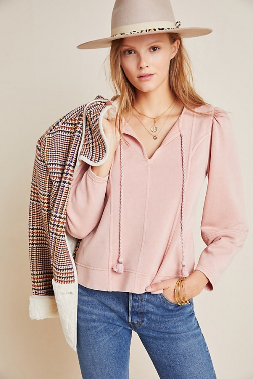 Anthropologie Jeanne Puff-Sleeved Pullover