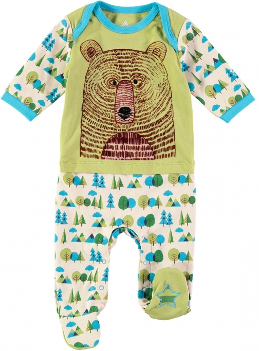 House Of Fraser Rockin' Baby Boys Bear Face Onesie