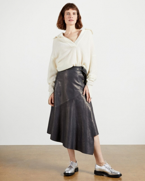 Ted Baker Leather Wrap Skirt