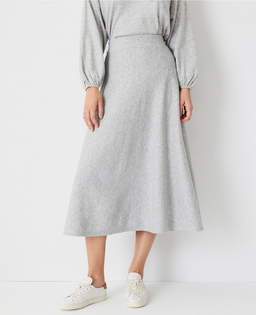 Ann Taylor Midi Sweater Skirt