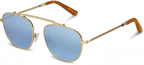 Toms Riley Satin Gold With Olive Green Gradient Lens Sunglasses