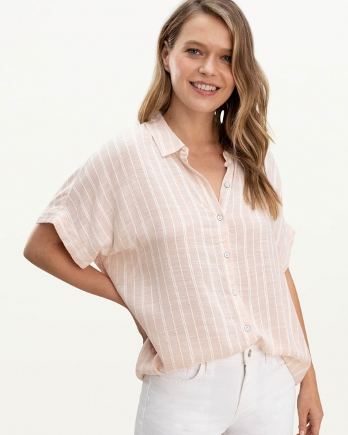 Oasis Haven Striped Shirt