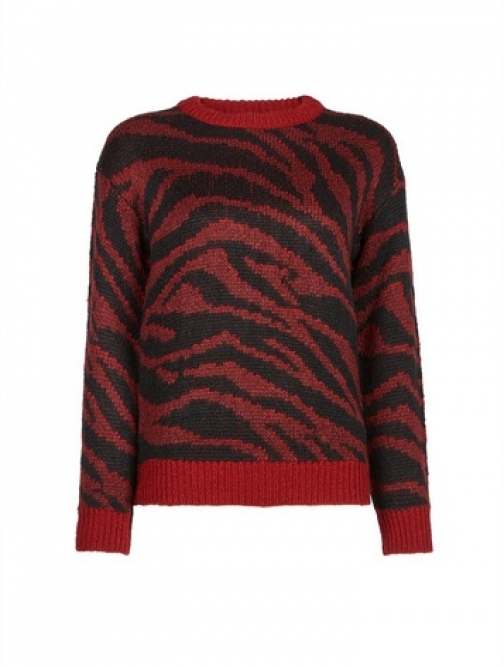 Dorothy Perkins Petite Red Abstract Jumper