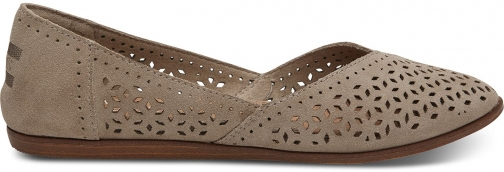 Toms Desert Brown Perforated Suede Women's Jutti Shoes Flats