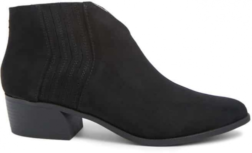 Forever21 Forever 21 Faux Suede V-Cut Black Ankle Boot