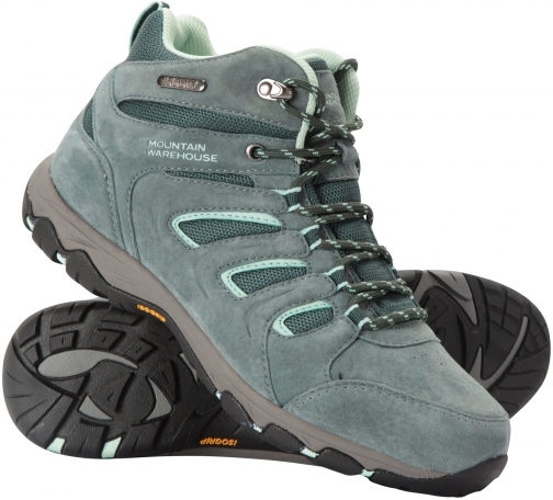 Mountain Warehouse Aspect Womens Waterproof IsoGrip - Green Boot