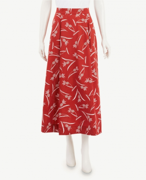 Ann Taylor Pineapple Pocket Midi Skirt