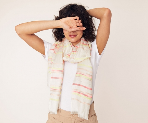 Oasis Textured Woven Stripe Scarf