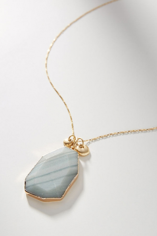 Anthropologie Faceted Stone Pendant Necklace