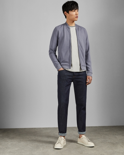 Ted Baker With Woven Panels Bomber Jacket