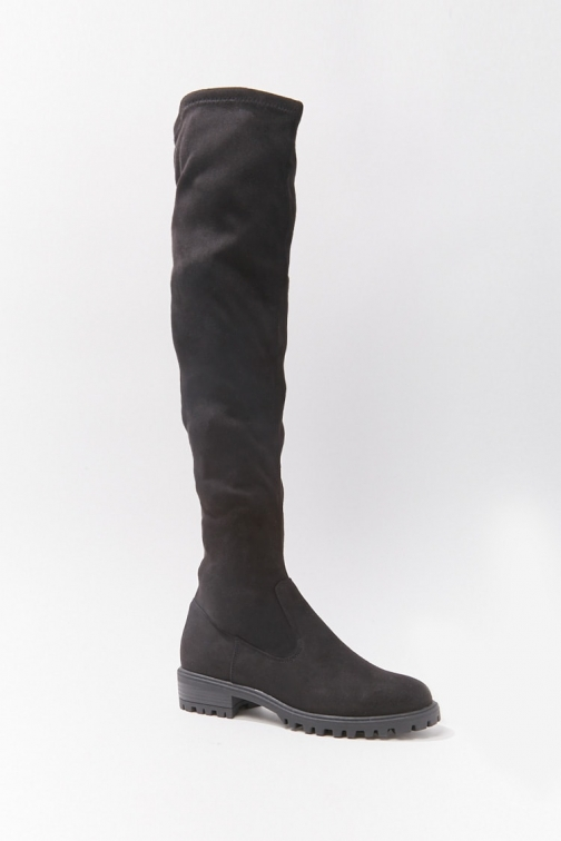 Forever21 Forever 21 Faux Suede Over-the-Knee , Black Boot