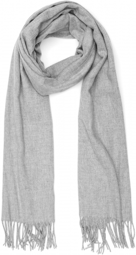 Reiss Temple - Oversized Fringed Light Grey, Womens Scarf