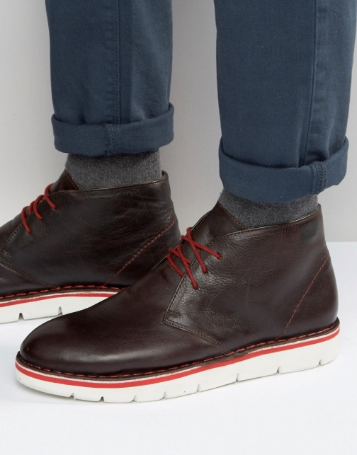 Frank Wright Desert Brown Leather Boot