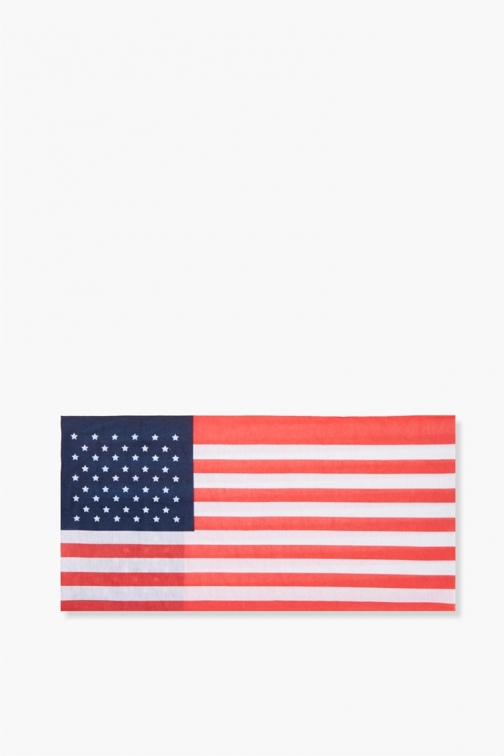 Forever21 Forever 21 American Flag Headwrap , Red/navy Headwear