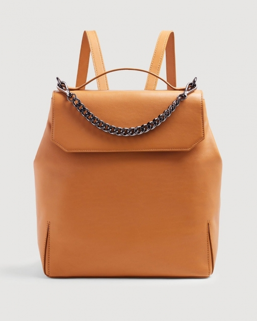 7 For All Mankind Leather Cognac Backpack