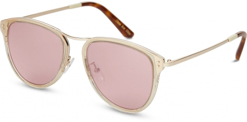 Toms Franco Champagne Crystal With Rose Mirror Lens Sunglasses