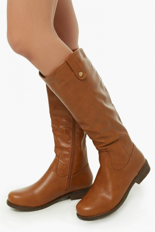 Forever21 Forever 21 Faux Leather Knee-High Boots , Brown Knee High Boots