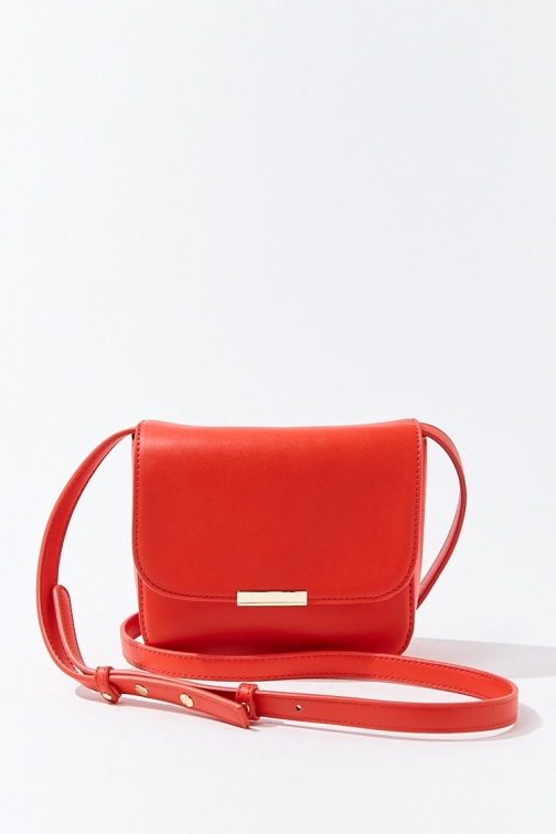 Forever21 Forever 21 Small Structured , Red Crossbody Bag