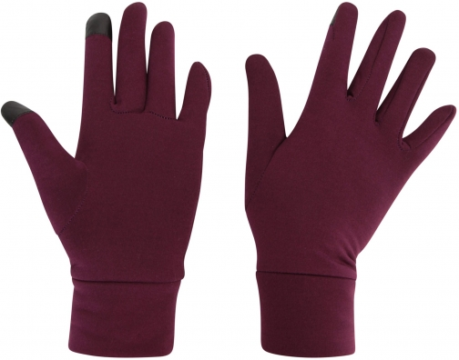 Mountain Warehouse Touch Screen Womens Liner - Burgundy Glove