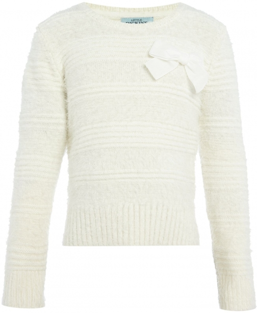 House Of Fraser Little Dickins & Jones Girls Crew Neck Fluffy Jumper