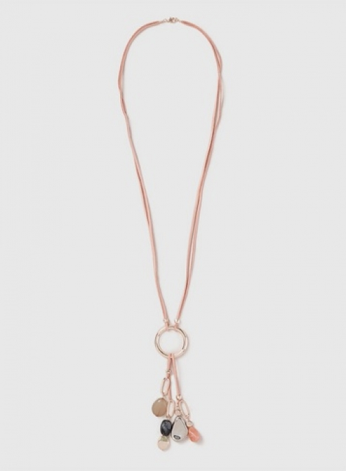 Dorothy Perkins Womens Pink Mixed Bead Tassel - Pink, Pink Necklace