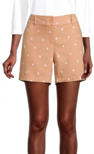 Loft Curvy Embroidered Dot With 6 Inch Inseam Short