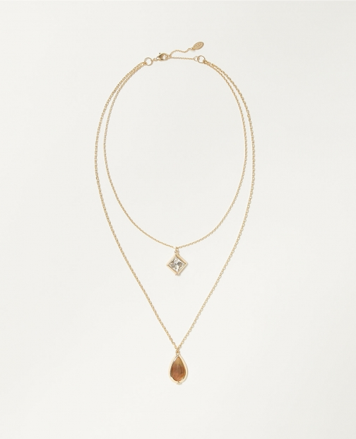 Ann Taylor Factory Layered Pendant Necklace