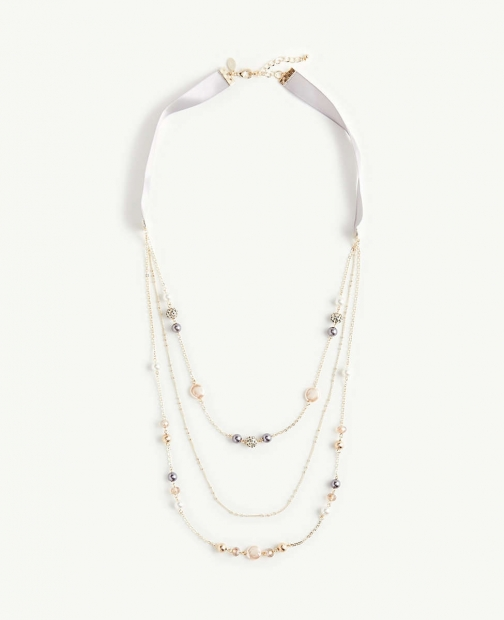 Ann Taylor Pearlized Illusion Necklace