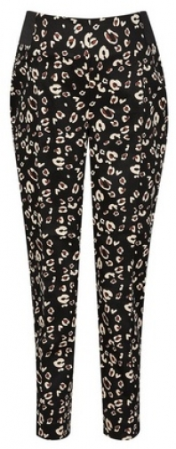 Dorothy Perkins Maternity Leopard Print Ankle Grazer Trousers Trouser