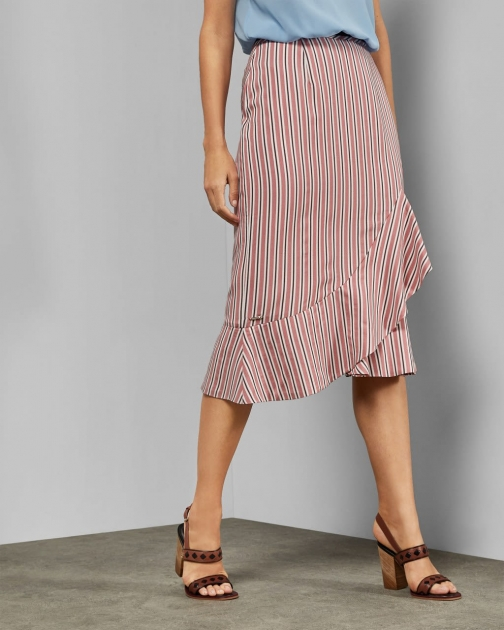 Ted Baker Layered Striped Skirt