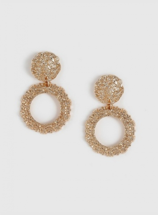Dorothy Perkins Gold Finish Textured Earring