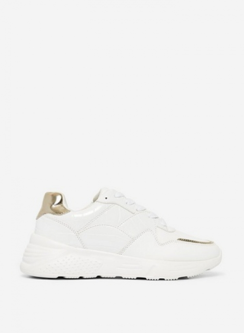 Dorothy Perkins White 'Isaac' Chunky Trainer
