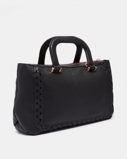 Ted Baker Interlocking Detail Leather Bag Tote