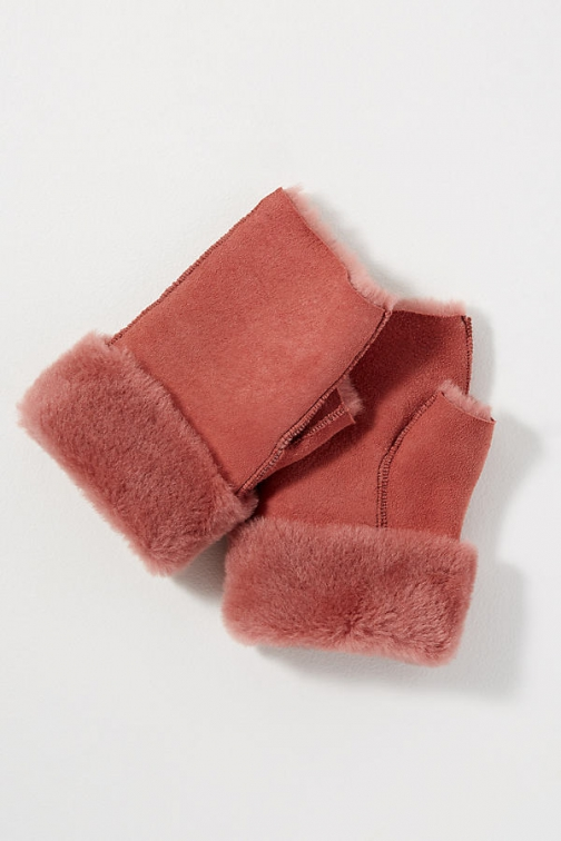 Anthropologie Fingerless Sheepskin Glove