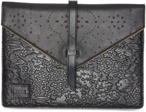 Toms Black Pattern Embossed Jetset Tablet Sleeve Accessorie
