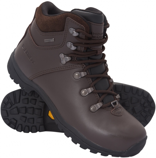 Mountain Warehouse Breacon Womens Waterproof Vibram - Brown Boot