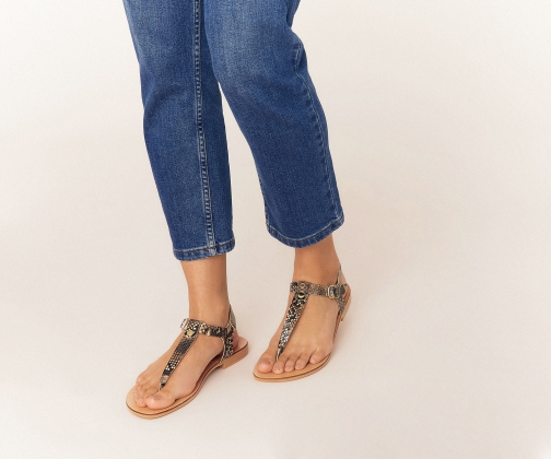 Oasis Leather Toe Post Sandals